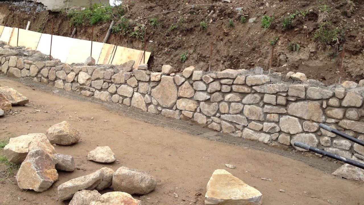 Jak postavit kamennou zed
