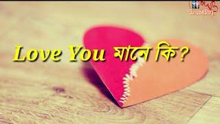 Love You মানে কি?.
