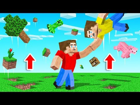 MINECRAFT But EVERYTHING You Touch FLOATS!