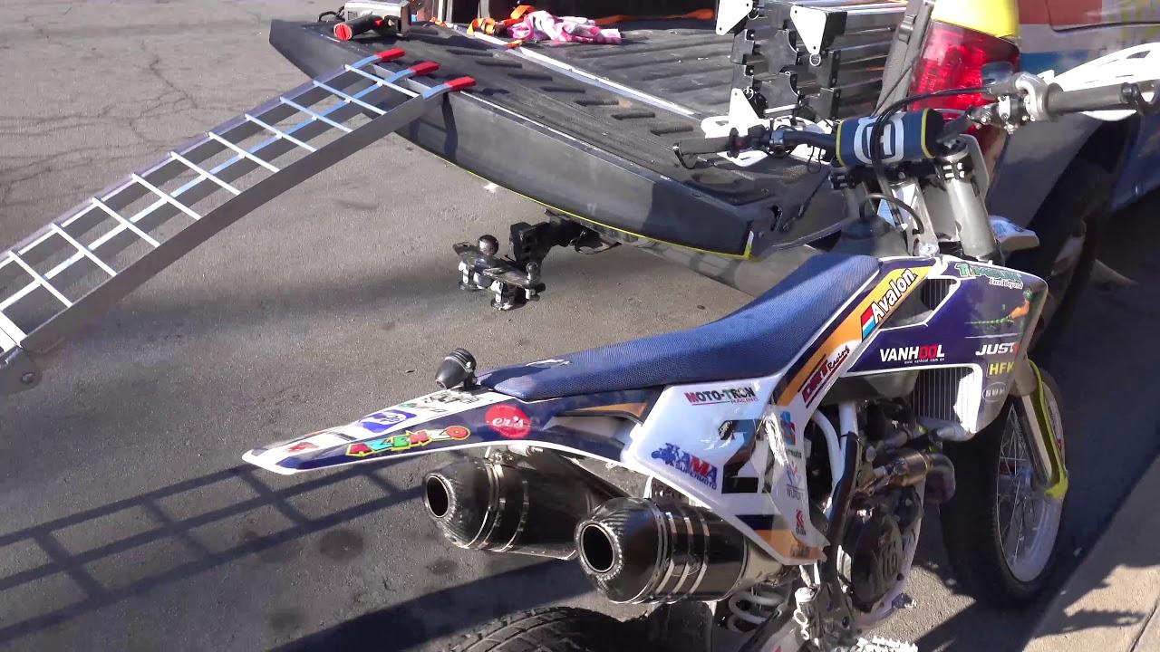 Luna Modded Sur Ron MX vs 450cc Husqvarna Race Bike