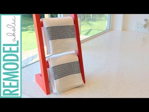 Build a Countertop Kitchen Towel Holder