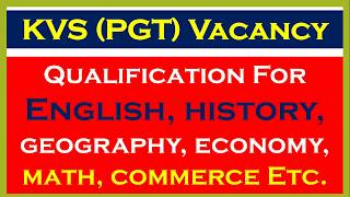 Qualification For English, history, geography, economy, math, commerce Etc.