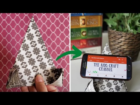 How To Make Paper Mobile Stand Without Glue    DIY Origami Phone Holder