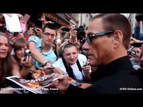 Jean Claude Van Damme The Expendables 2 Premiere   France