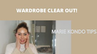 MASSIVE WARDROBE CLEAR OUT! Declutter + Marie Kondo Tips - Tanya Louise