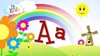ABC/abc Buchstaben lernen für Kinder. Alphabet in Groß- und Kleinbuchstaben A bis Z in Deutsch