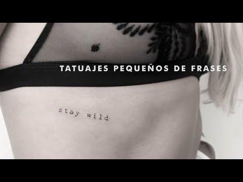 Tatuajes pequeños de frases
