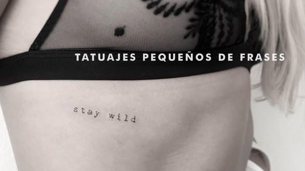 Tatuajes Pequenos De Frases Youtube