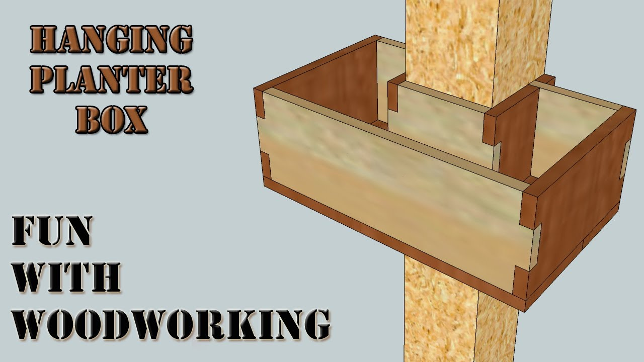 Project How To Build A Wraparound Hanging Planter Box Youtube