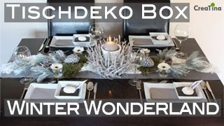 Tischdeko | Tischdeko Box | Winter Wonderland | Tischdekoration DIY