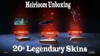 Apex Legends Heirloom Unboxing and 20+ Legendary Skins Unboxing