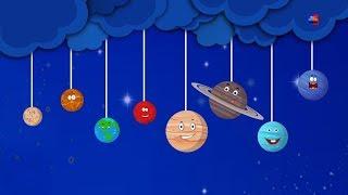 планеты песня узнать планеты детские стишки образовательные песни Kids Rhymes Planets Songs