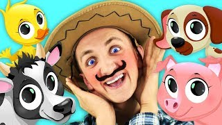 Old MacDonald Had a Farm Song for Kids | Learn Farm Animals Voices with Super Simple Nursery Rhymes.