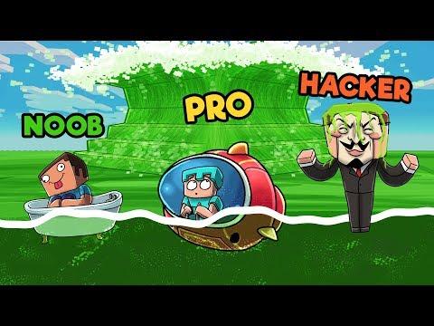 Minecraft - SLIME TSUNAMI CHALLENGE! (NOOB vs PRO vs HACKER)