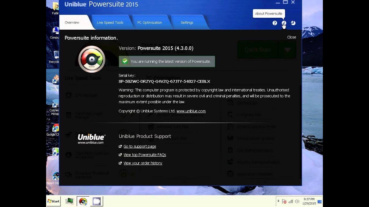 uniblue pc mechanic 2016 activation key