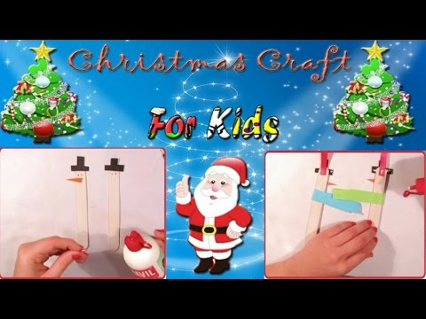 simple kids idea for christmas for decorating the christmas tree preschool simple christmas crafts - Santa Claus Christmas Tree Decorating Ideas