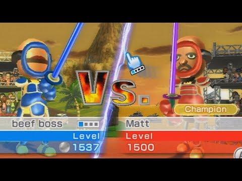 beef boss vs matt wii sports resort swordplay duel championship
