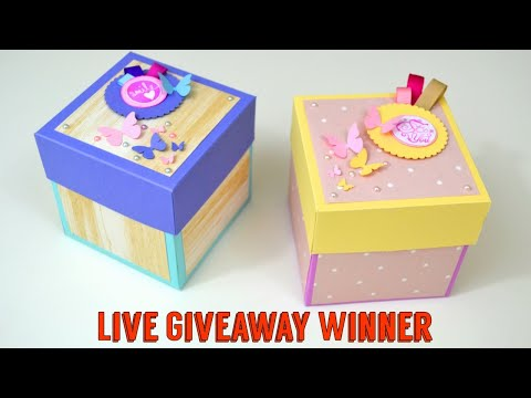 Live Giveaway winners - Exploding Box Giveaway