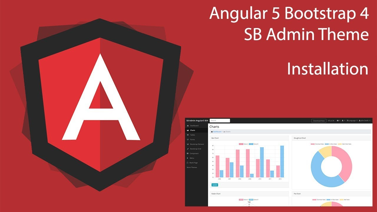 Angular 5 SB Admin Theme - Installation