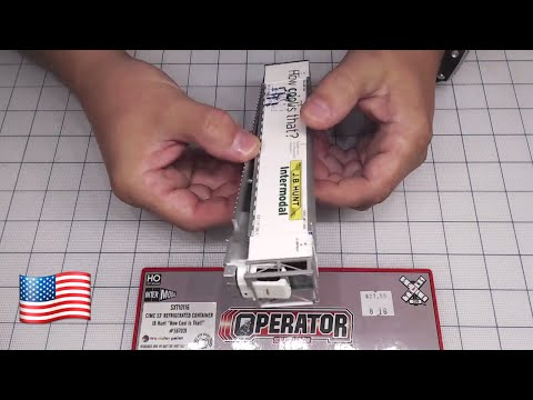 DCCTRAIN Live review Scale Trains  HO CIMC 53' Reefer Container, JB Hunt/Intermodal Sound