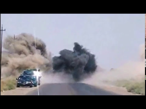 IED on my truck - 8 July 06 - Route Dover - Balad, Iraq