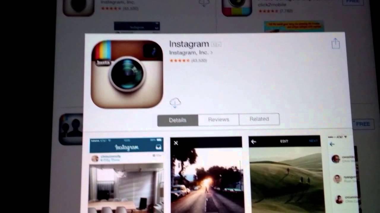 instagram download ipad 2