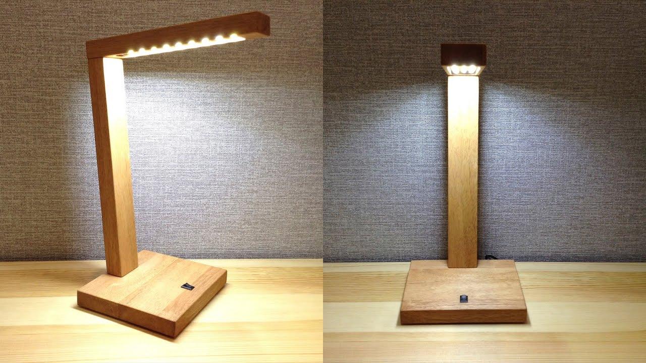 ✅ Настольная лампа из дерева своими руками | Diy LED Desk Lamp | Tischlampe aus holz