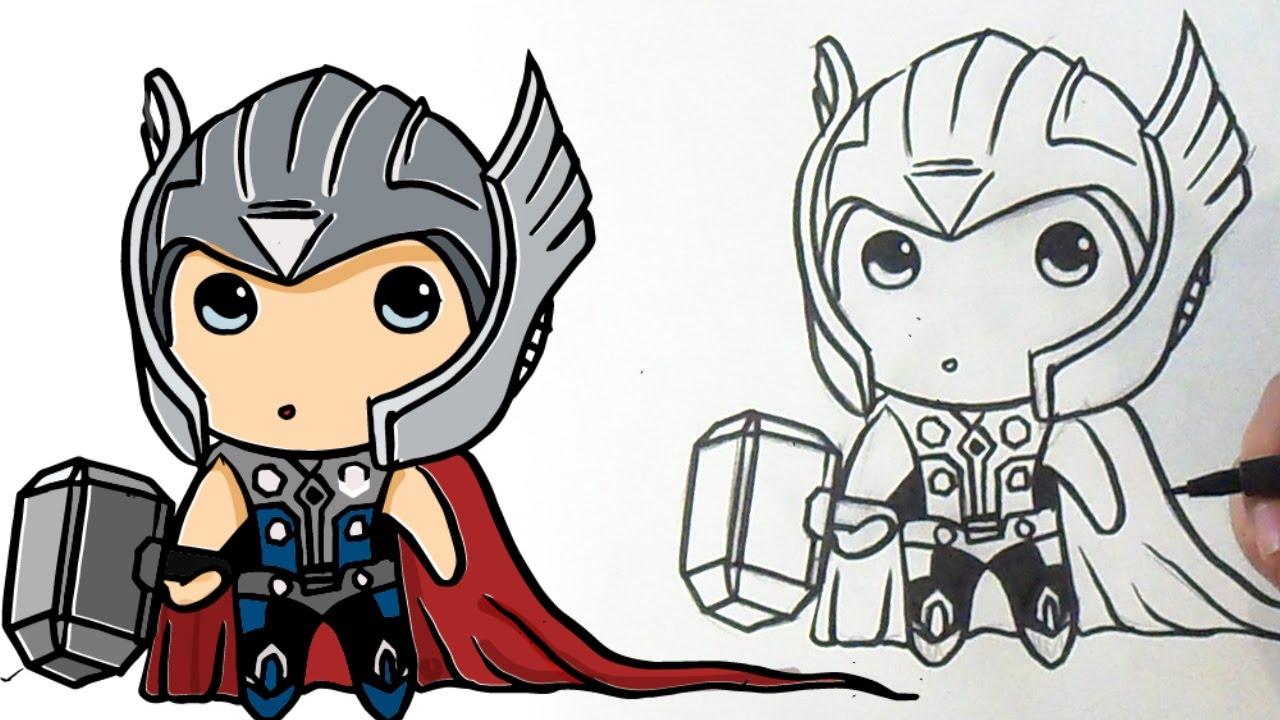 Cómo Dibujar A Thor Kawaii