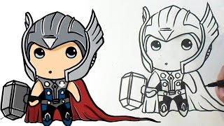 How to draw Cute Thor