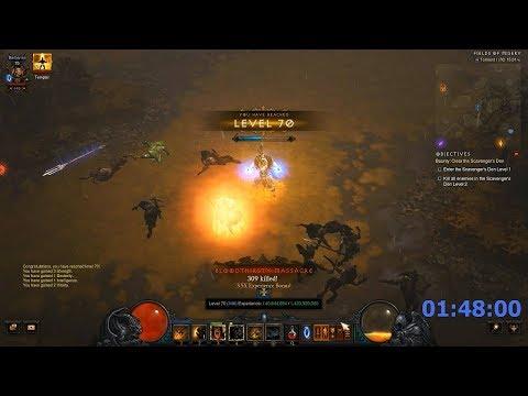 Diablo 3 Barbarian - Season Leveling 1-70 - Solo - 01:48:00 H