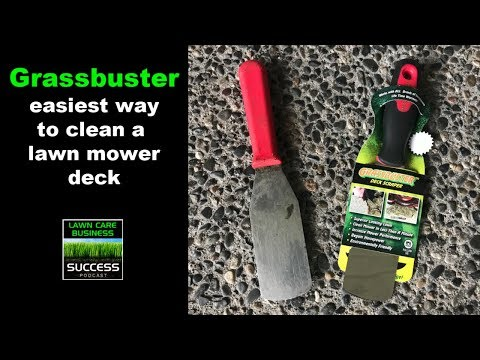 Grass buster - easiest way to clean a lawn mower deck