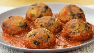 Безумно вкусные тефтели из баклажанов в томатном соусе.   Appetitno.TV