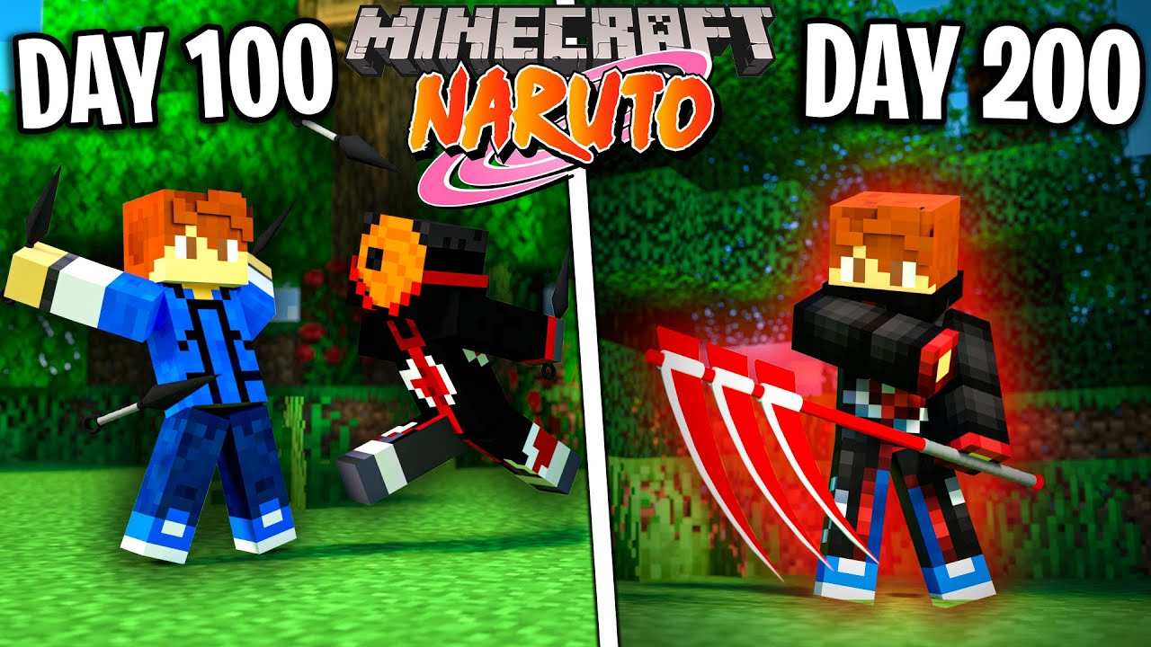 I survived 200 Days as NARUTO in Minecraft