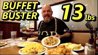 BUFFET BUSTER   13 LBS of FOOD   DAUGHTER PICKS THE FOOD @ YODER'S COUNTRY MARKET BUFFET