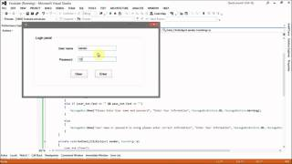 Visual C# log in panal without database - part 02