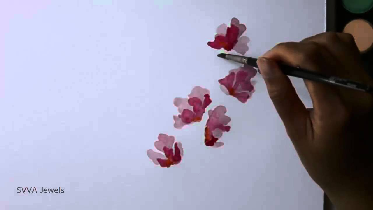 How To Paint Sweet Pea Flowers Using Water Color