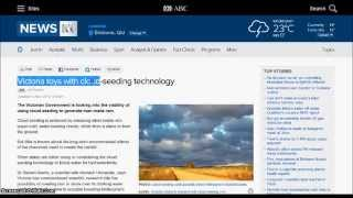 PERMINENT CLOUD SEEDING in AUSTRALIA- Do Your OWN Research !!!- by ROBBO DA YOBBO   HAARP HUNTER