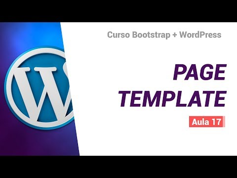 Layouts de páginas personalizados no WordPress (page template)  – BS4 + WP #16