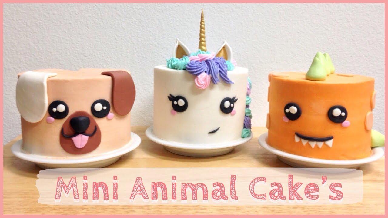 How To Make 3 Easy Mini Adorable Animal Cakes