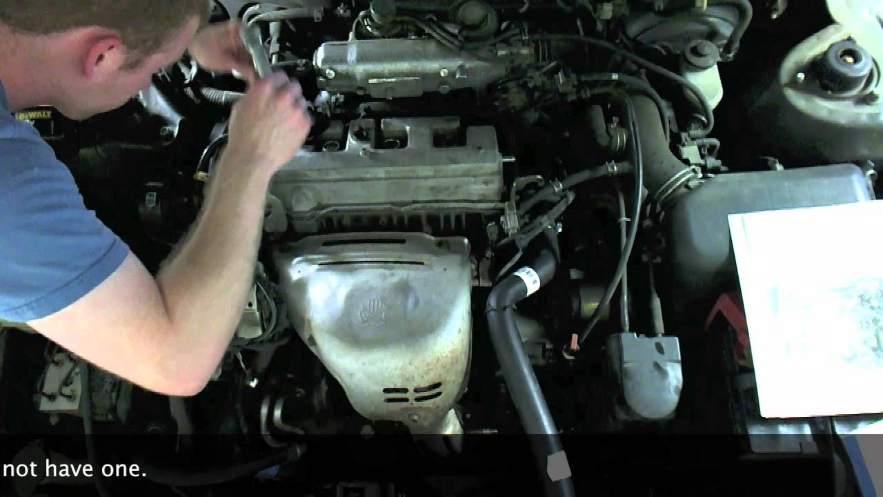maxresdefault how to replace spark plugs and wires in a toyota camry youtube 1999 toyota corolla spark plug wire diagram at crackthecode.co