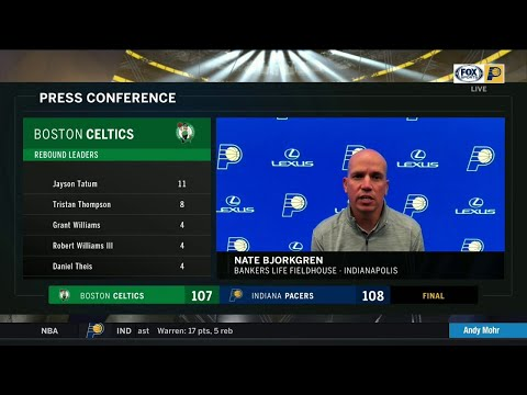 """Bjorkgren on Pacers' competitiveness: """"This is a group that really plays hard for each other"""""""