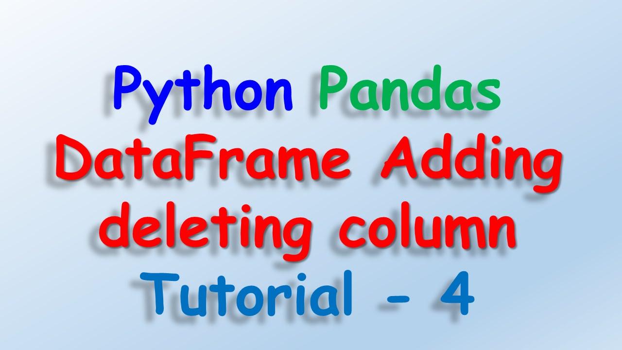Dataysis With Python And Pandas
