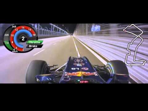 F1 2010 Singapore Mark Webber Onboard [FOM] HD