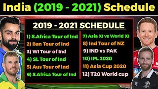 Indian Cricket Team Full Schedule from 2020-2021 | BCCI Announces the Full Schedule from 2019-21
