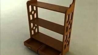 3D Model Knick Knack Shelf