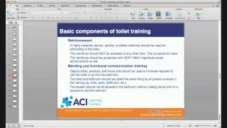 Evidence Based Approaches to Toilet Training