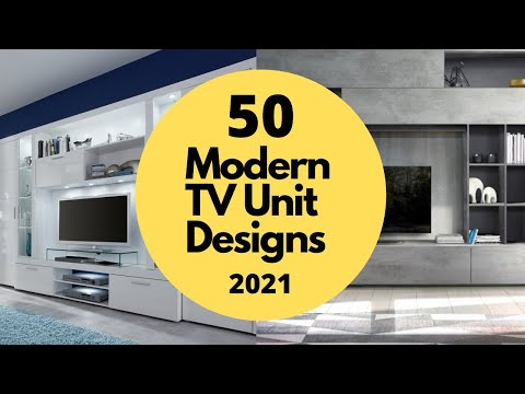 50 Best Modern TV Unit Design for Living Room in 2019