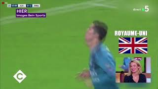 Cristiano ronaldo cr7 bicycle goal all over the world, speaker all languages real madrid juventus