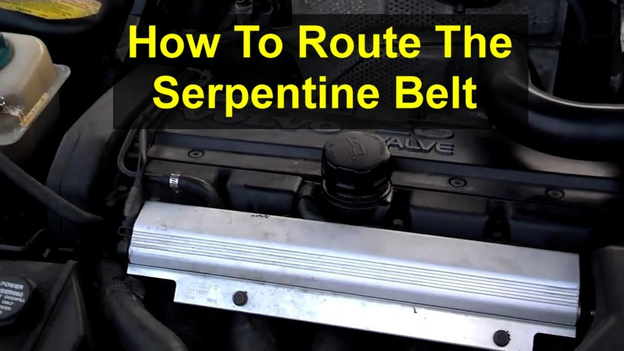 Serpentine Belt Routing On The Volvo 850 S70 V70 Etc