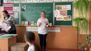 Урок по творчості Ніни Гнатюк у 15-й школі Вінниці - 6-А клас 25.02.19 ч5